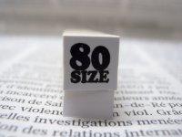 サイズスタンプ:80size(ブラック)