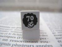 サイズスタンプ:アフロキッズ70size(ブラック)