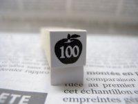 サイズスタンプ:リンゴ100size(ブラック)