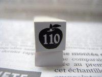 サイズスタンプ:リンゴ110size(ブラック)