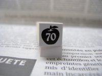 サイズスタンプ:リンゴ70size(ブラック)