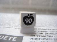 サイズスタンプ:リンゴ90size(ブラック)