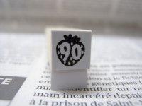 サイズスタンプ:苺90size(ブラック)