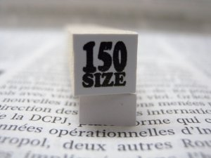 画像1: サイズスタンプ:150size(ブラック)