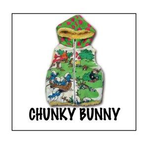 画像1: CHUNKY BUNNY☆2collarリバーシブルベスト:ファスナーtype  (型紙/仕様書あり)