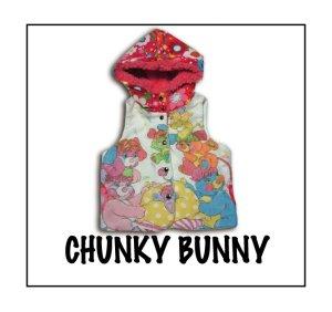 画像1: CHUNKY BUNNY☆3collarベスト:ボタンtype  (型紙/仕様書あり)