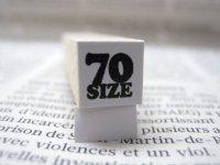 サイズスタンプ:70size(ブラック)