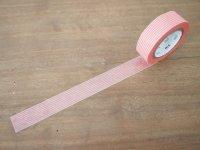 マスキングテープ:ボーダー・珊瑚(10m1巻)