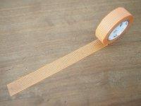 マスキングテープ:ボーダー・橙(10m1巻)