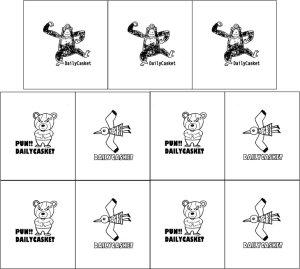 画像1: カスタム仕様リネンタグ(変わった動物たちPART1)
