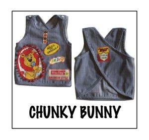 画像1: CHUNKY BUNNY☆エプロンベスト  (型紙/仕様書あり)