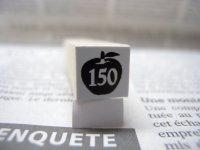 サイズスタンプ:リンゴ150size(ブラック)