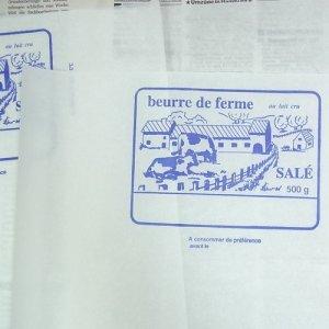 画像1: ベルギー☆ バターを包む紙(5枚入り)