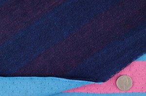 画像3: セレクト生地:針抜きボーダーニット(ピンク×ブルー)