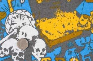画像2: SALE生地:海賊プリント天竺(ブルー)