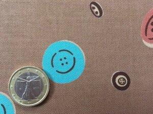 画像2: セレクト生地:ボタン柄(ブラウン)