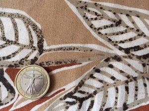 画像2: セレクト生地:葉っぱ柄コットンリネン55cmパネル