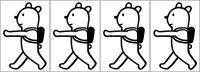 オリジナルアイロンシート(艶消しラバーシート):くま散歩