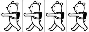 画像1: オリジナルアイロンシート(艶消しラバーシート):くま散歩