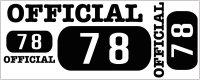 カスタム仕様アイロンシート(艶消しラバーシート):official78(A)