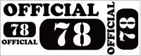 カスタム仕様アイロンシート(艶消しラバーシート):official78(B)