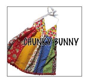 画像1: CHUNKY BUNNY☆三角ホルターネックワンピ (型紙/仕様書あり))