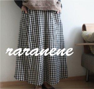 画像1: raranene☆ウエストすっきりスカート(フリーサイズ型紙/仕様書あり)